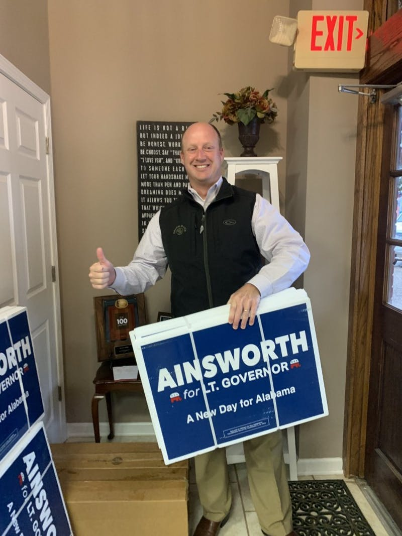 Will Ainsworth has been elected Alabama's next lieutenant governor. (Photo via Will Ainsworth's Twitter)