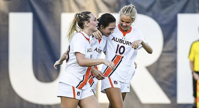 Auburn soccer beat Alabama for the seventh consecutive time Sunday. Via Cat Wofford / Auburn Athletics