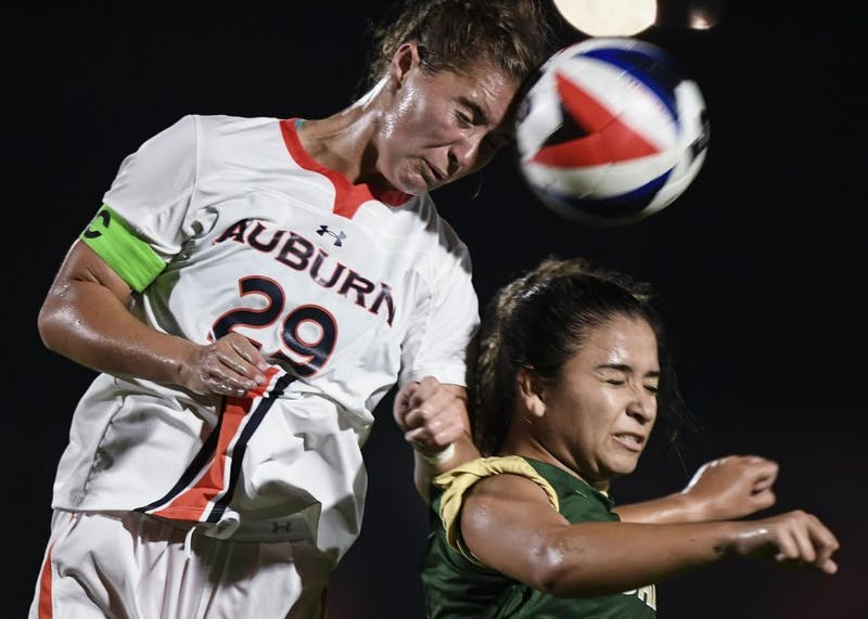 Gianna Montini (29) scored Auburn's lone goal Sunday (Cat Wofford / Auburn Athletics).
