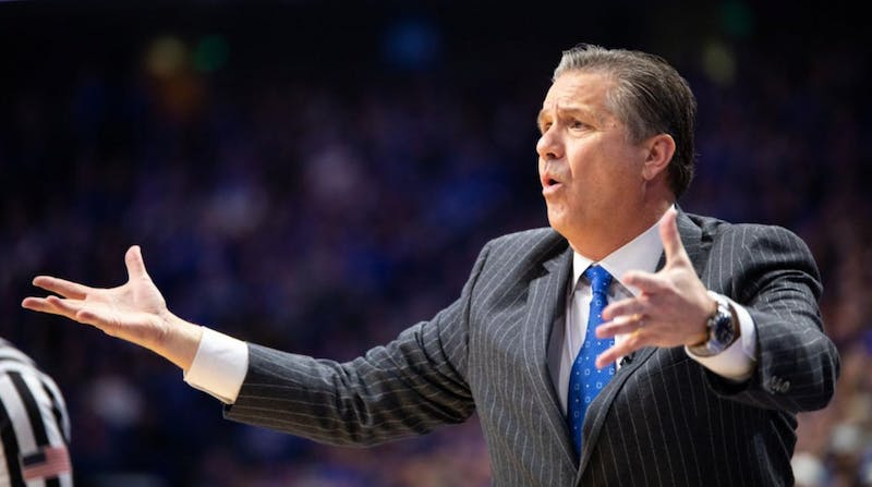 Kentucky head coach John Calipari reacts to a play during the game against Vanderbilt on Saturday, Jan. 12, 2019, at Rupp Arena in Lexington, Kentucky. Kentucky won with a final score of 56-47. Photo courtesy of Jordan Prather, staff photographer for the Kentucky Kernel.