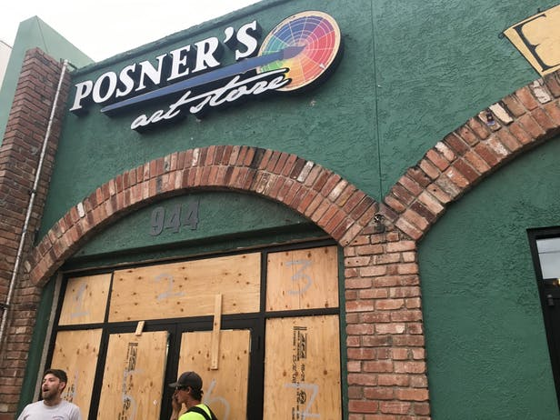 Posner's boarded up