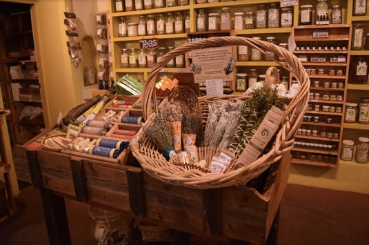 Local store of herbs, teas and other home remedies