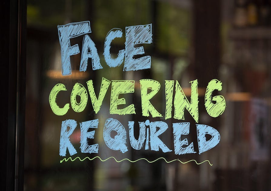 FACE-COVERINGS SIGN