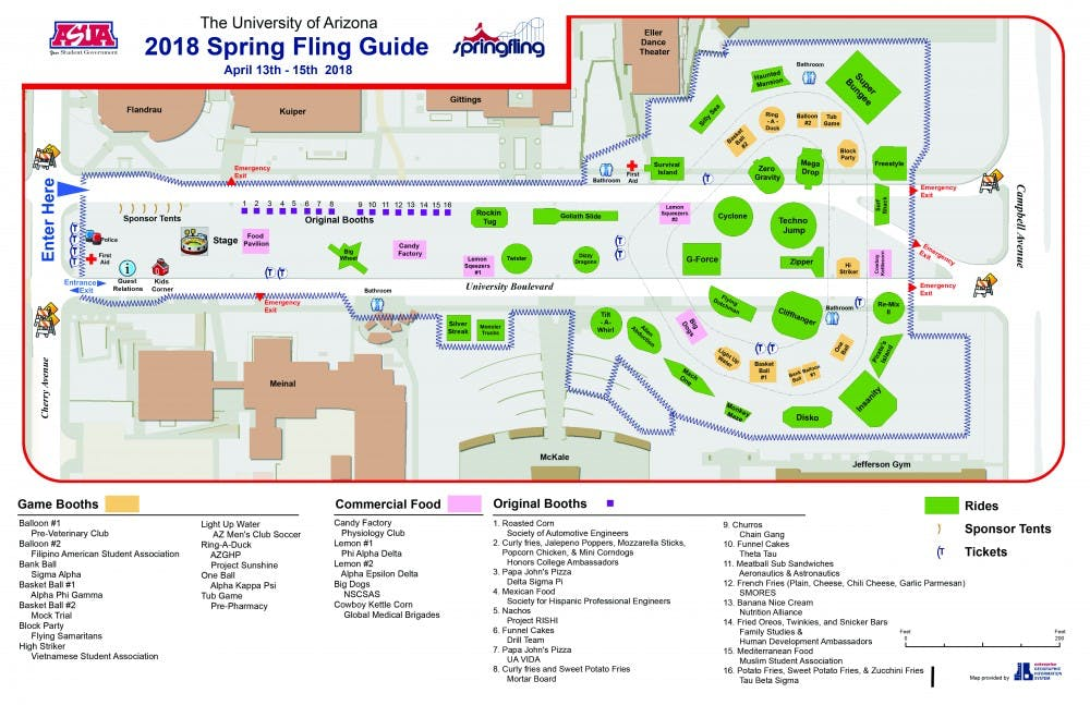 Spring Fling Ride Map