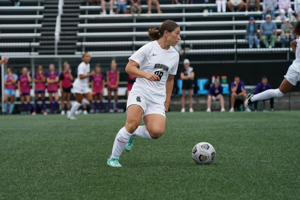 <p>Miya Grant-Clavijo '25 proved to be an integral part of the Brown women's soccer team in a strong game against Northeastern.</p>
