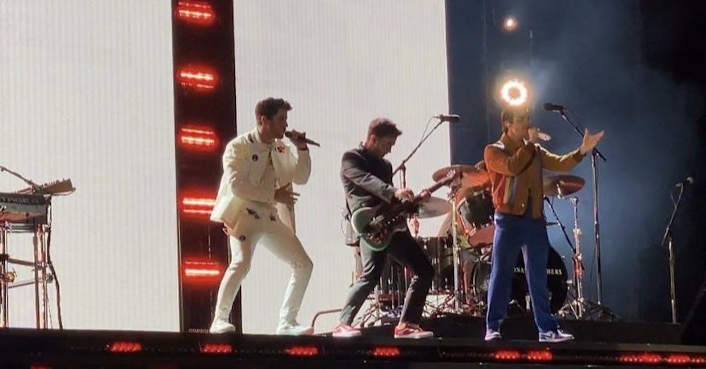 <p>The Jonas Brothers retain their original 2000's boyband pop sound to appeal to their mostly-millennial and older gen-Z audience.</p>