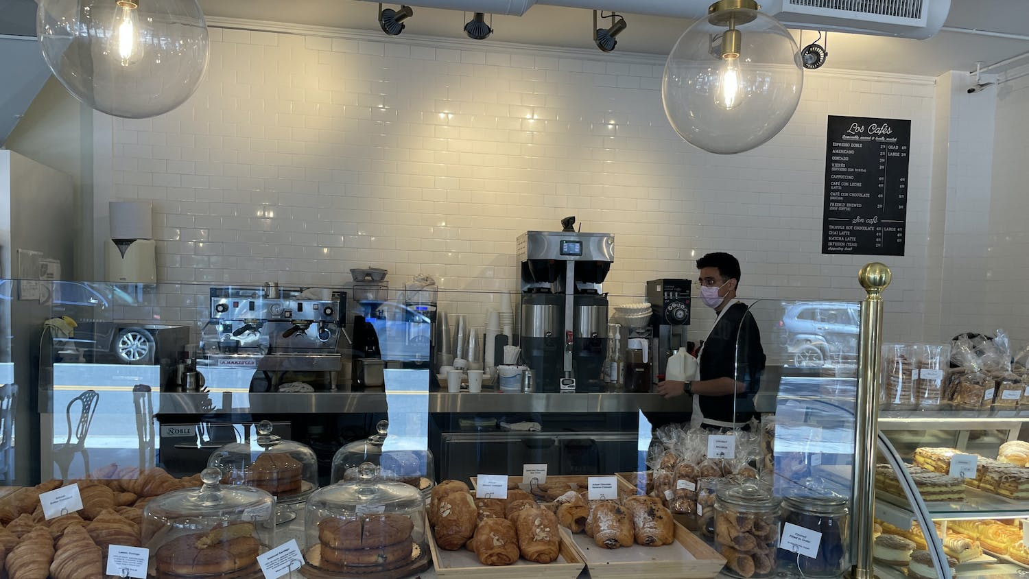 Spanish baker Sergio Mendoza welcomes customers to family-owned Madrid European Bakery and Patisserie.