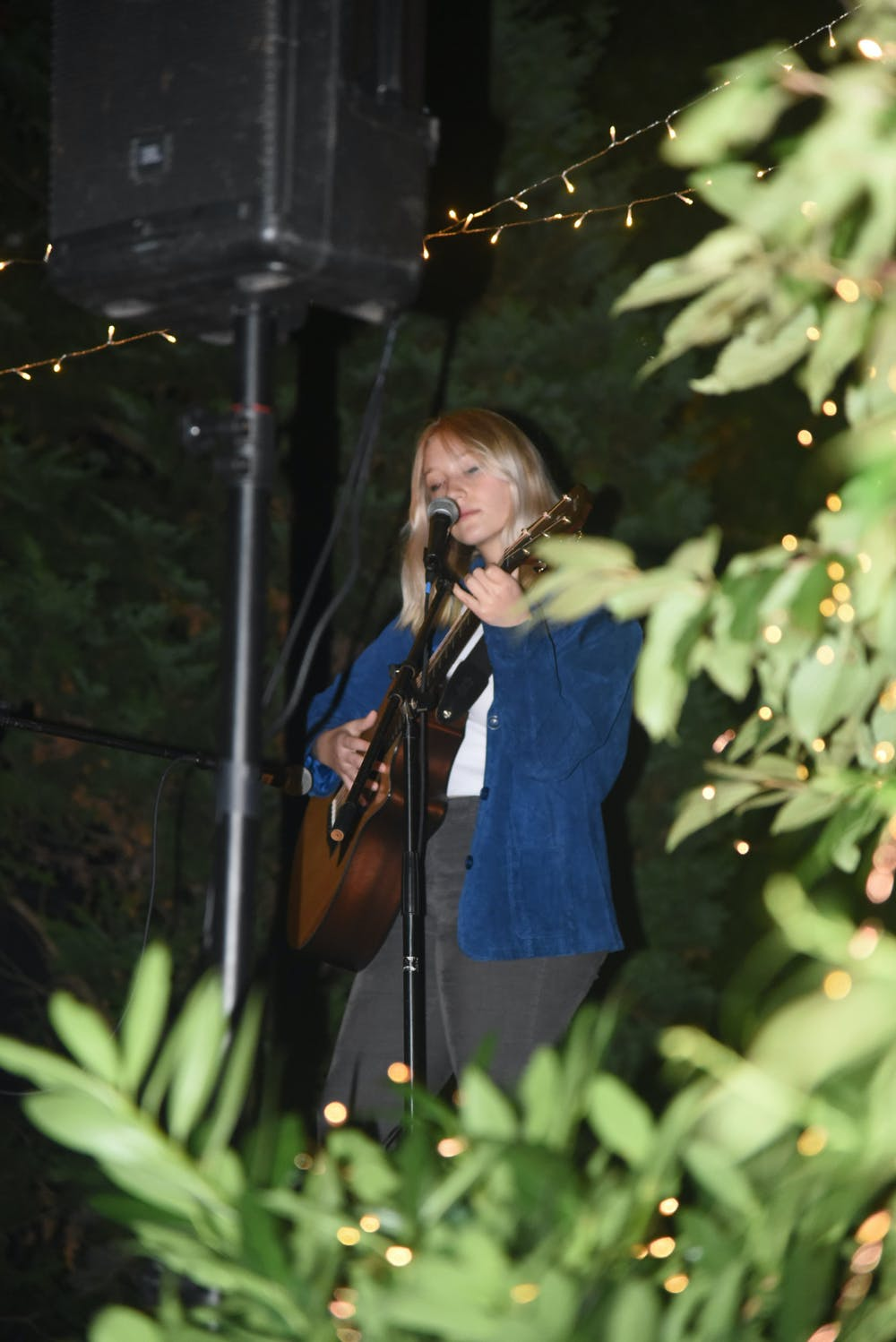 <p>Performers included Ellie Tapping '24, Tara Mandal '24, Laura David '24, and Gus Benson '23. They had each collaborated with Sounds@Brown in the past. </p>