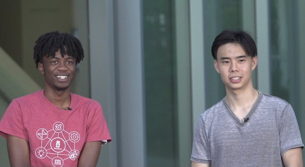 """<p>Brandon Li GS and Anderson Addo '23 are two of Emit's developers. Li calls Emit a """"social-app"""" in order to distance the app from the exclusivity associated with conventional social media. </p>"""