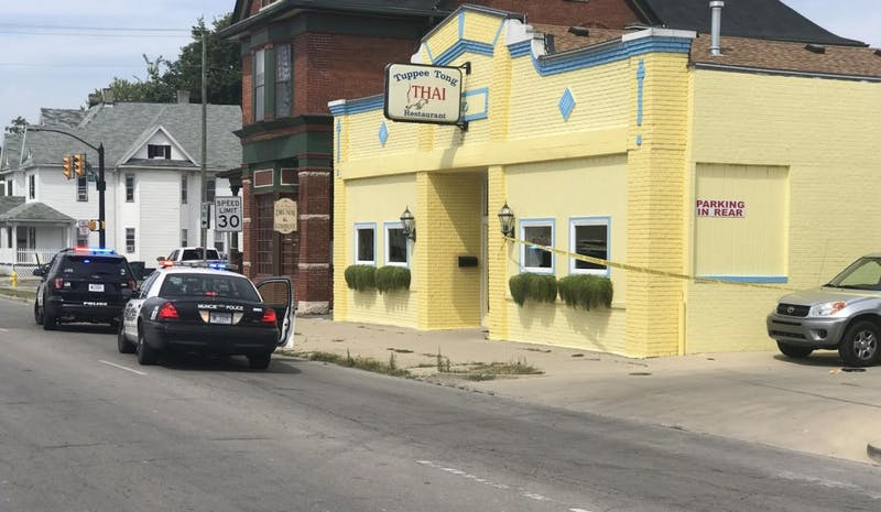 A woman was shot outside of Tuppee Tong Thai restaurant Thursday afternoon. Muncie Police Chief Joe Winkle confirmed that the victim has been pronounced dead. Andrew Smith, DN