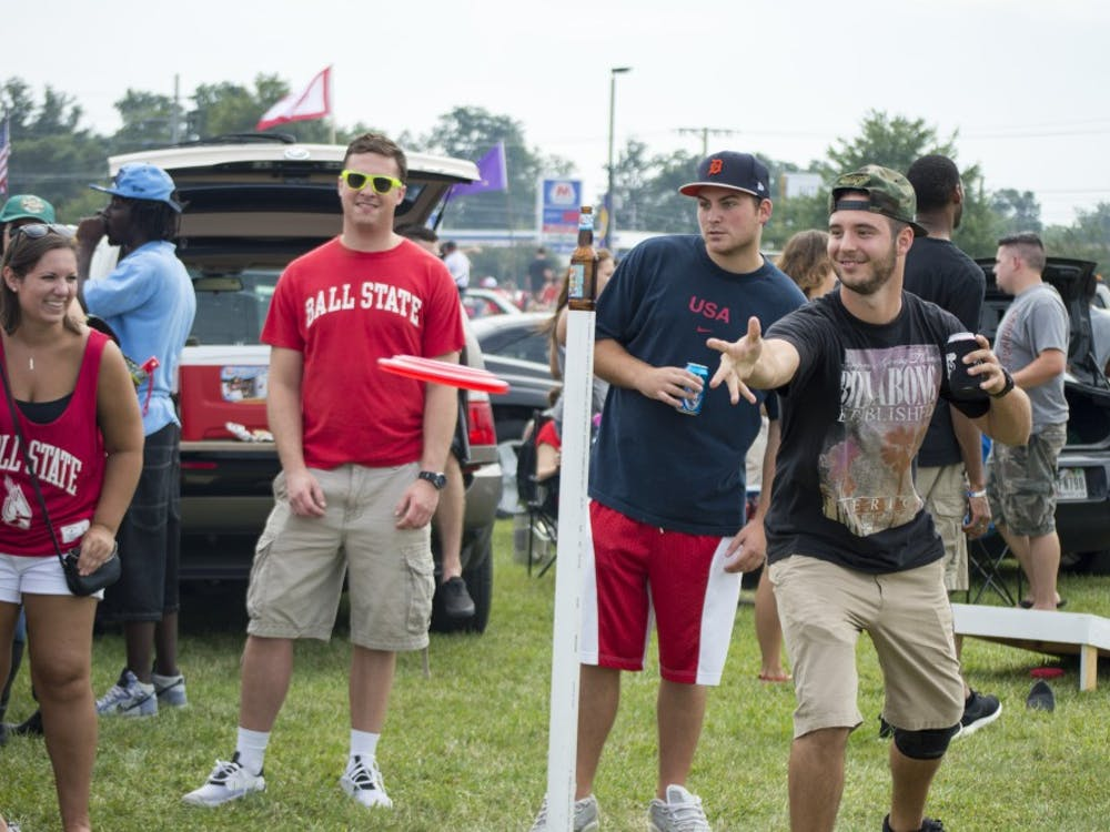 Tailgaters took to the Scheumann Stadium parking lot before the football game on Aug. 30 against Colgate.