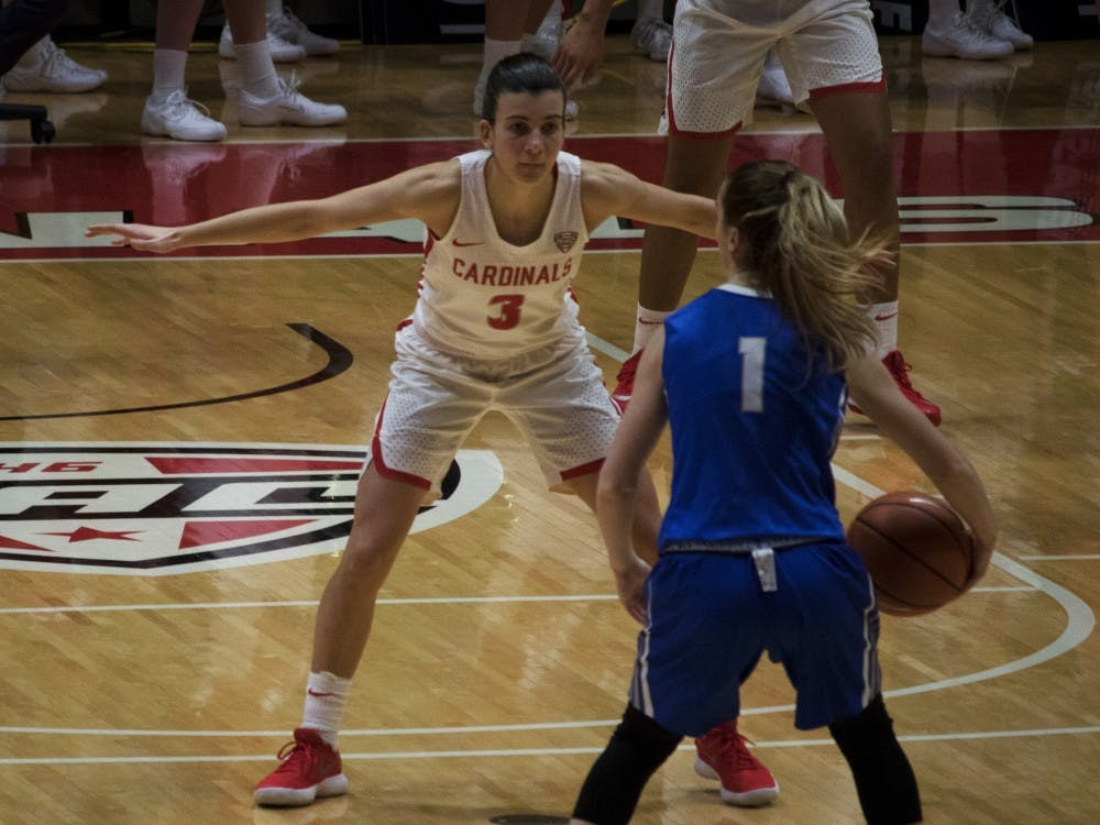 Ball State's women's basketball played Buffalo on Jan. 13 in John E. Worthen Arena. The Cardinals lost 80-84