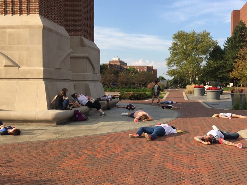 The Ethics Theatre Alliance hosted the Sexual Assault March on Oct. 6 from the North Quad to Shafer Tower. The ETA wanted tospread awareness about sexual assault and victim blaming.Demi Vaughn // DN