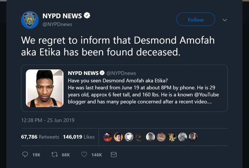 Youtuber Desmond 'Etika' Amofah found dead at 29