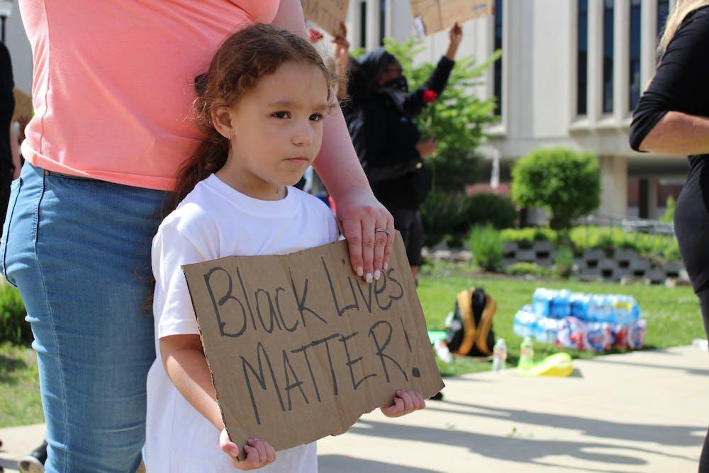 Community protests George Floyd's death in downtown Muncie