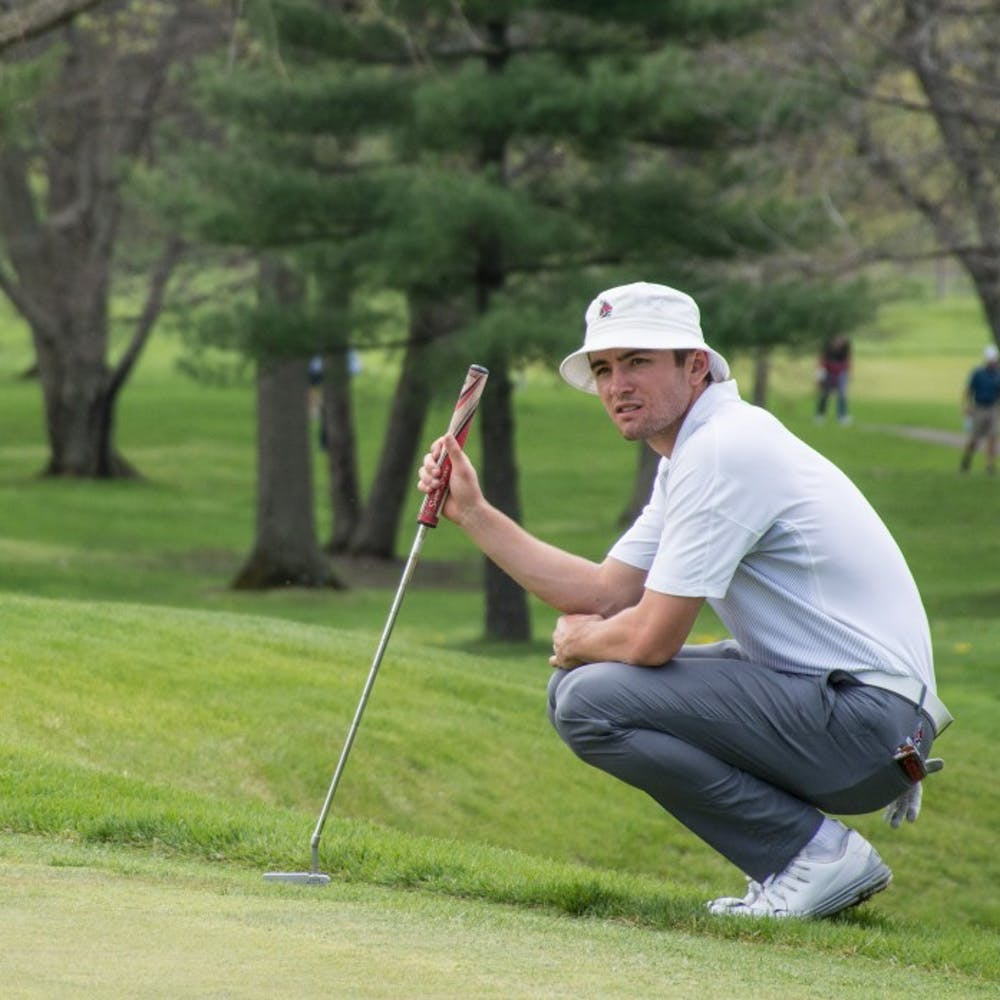 <p>The men's golf team has only seen three coaches in its history. In that time, it also saw 47 team members receive Academic All-Honors. <strong>DN File</strong></p>