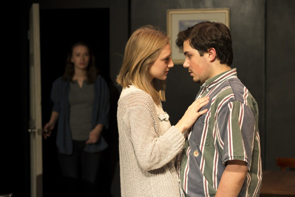 """<p>Emma Rund, Emily Pazik and&nbsp;Will Rupert perform in&nbsp;Cave Theatre's next production is Theresa Rebeck's """"Seminar"""" from Feb. 15 to 26. The production tells the story of four aspiring fiction writers who are participating in a writing seminar. <i style=""""font-size: 14px;"""">John Osterhoudt // Photo Provided</i></p>"""
