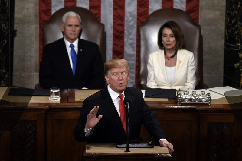 President Donald Trump delivers his State of the Union address Feb. 5, 2019, to a joint session of the Congress on Capitol Hill in Washington, D.C. The House of Representatives is currently conducting an impeachment inquiry into Trump. TNS, Photo Courtesy