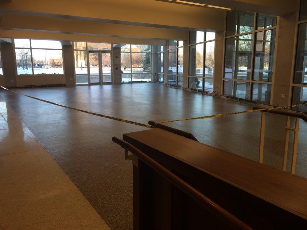 Director of Engineering, Construction and Operations, Jim Lowe said that the carpeting near Jamba Juice needed replacing. The resulting renovation caused a odor that some students found unpleasant. DN PHOTO DANIELLE GRADY