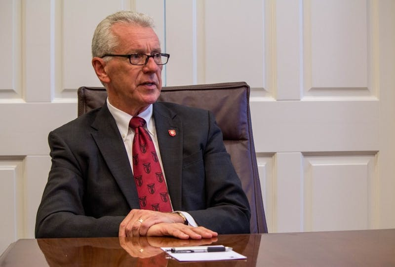 Ball State Interim President Terry King never planned to lead Ball State, or any university for that matter.