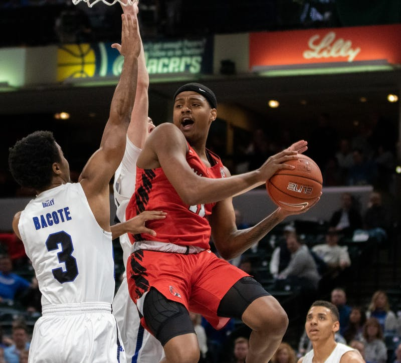 Mens Basketball beats Indiana State at Bankers Life