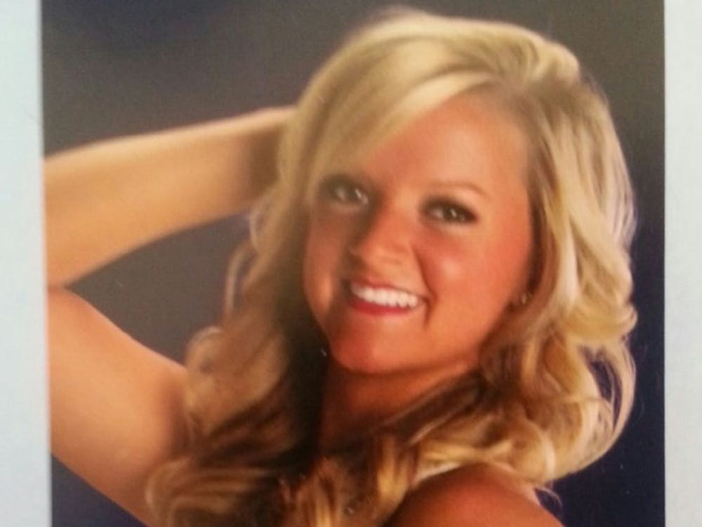 Olivia is living her dream as an IndianapolisColts cheerleader and performingin front of 67,000 screaming fans. Olivia was part of the Code Red Dance Team during her time at Ball State. PHOTO COURTESY OF INDIANAPOLIS COLTS