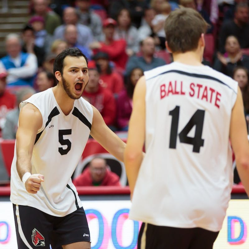 No. 12 Ball State men's volleyball splits weekend neutral court matches in Columbus