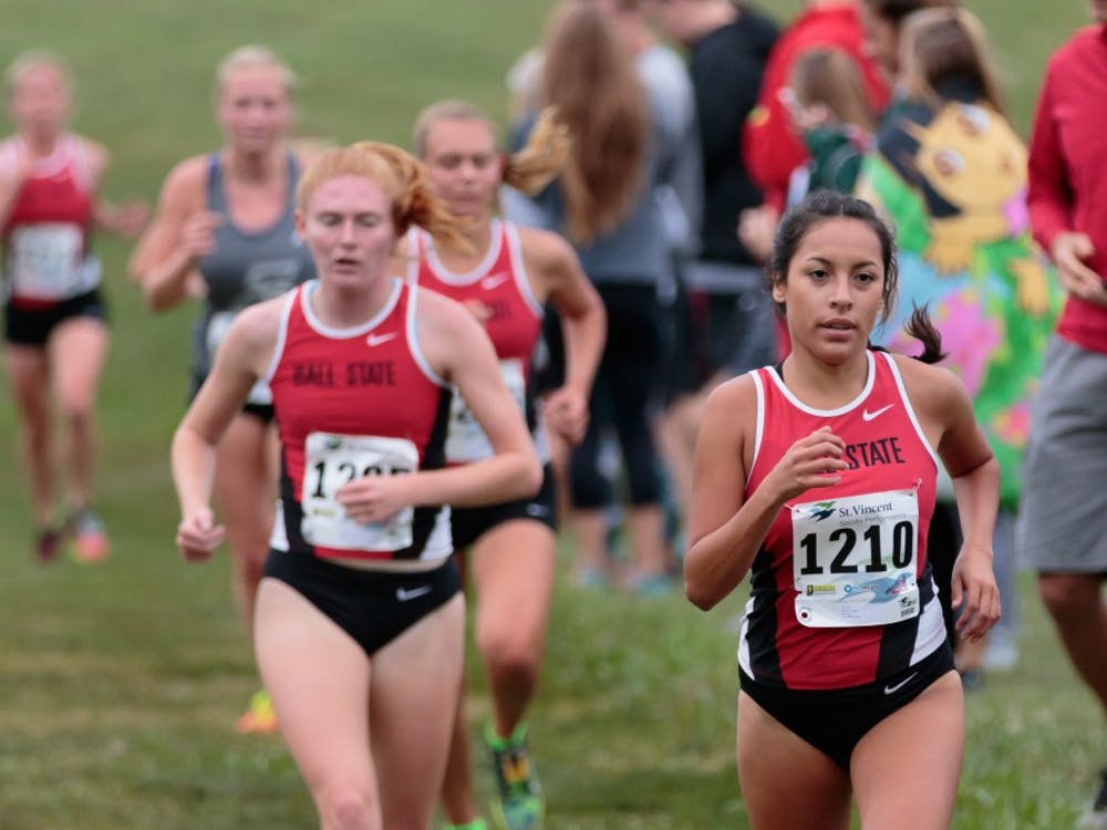 Runner Meliza Rodriguez competes in the Butler Twilight meet at Northview Church on Sept. 1, in Carmel, IN. Ball State will run in the MAC Championships on Oct. 28 in Oxford, Ohio. Kyle Crawford, DN