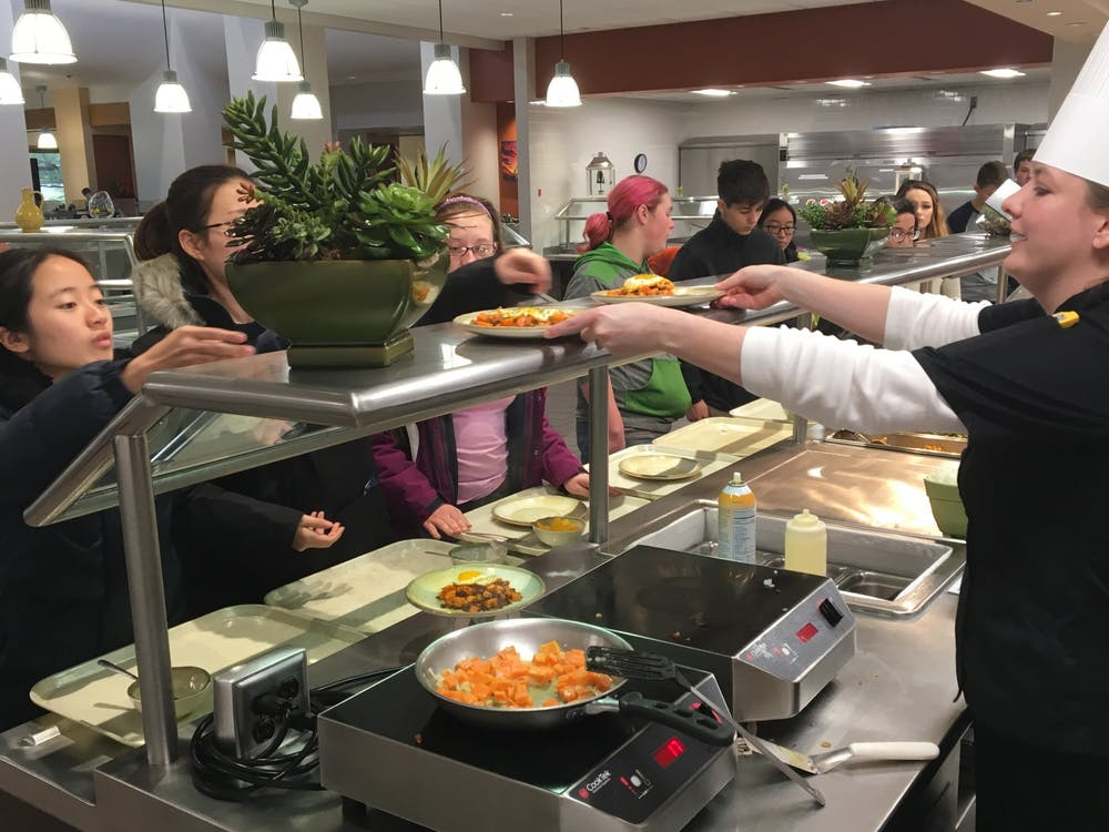 Ball State's Dining Services released new guidelines for its operations in the fall semester in light of the COVID-19 pandemic. These guidelines promote physical distancing to help stop the spread of COVID-19. Suzanne Clem, Photo Provided