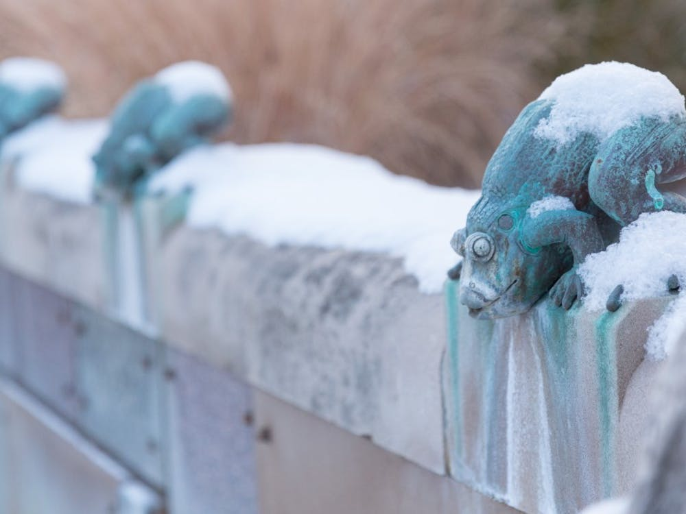 Ball State University woke up to a dusting of snow on Dec. 9. Kyle Crawford // DN