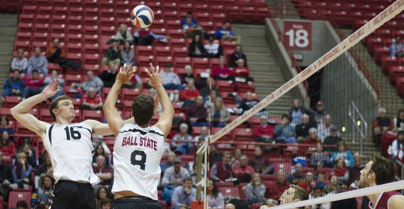 Ball State men's volleyball offensive attack tops Harvard