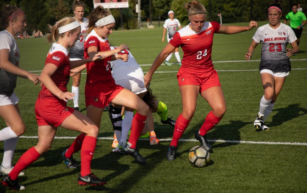 Stuteville, Hawkins-Dabney give Ball State Soccer edge over Illinois State