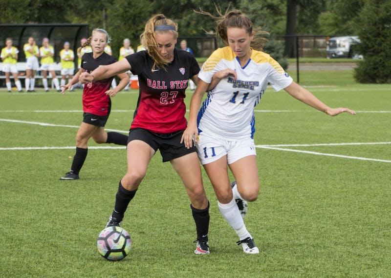 Cardinal soccer defense leads team effort to defend MAC title