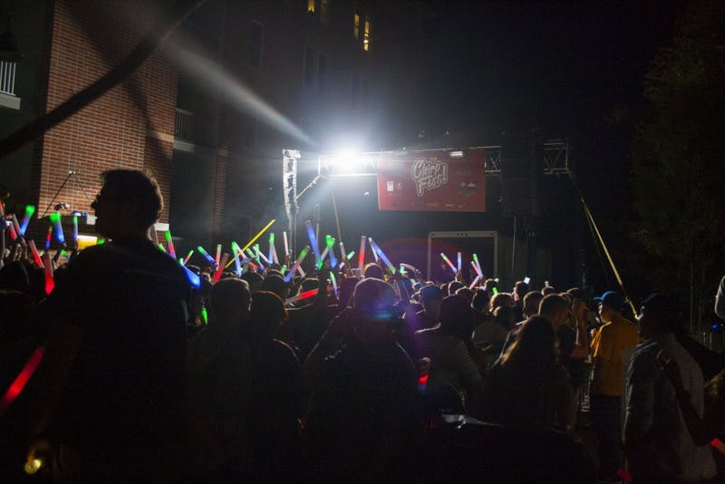 ChirpFest attracted about 3,500 people to North Dill Street for the first-ever electronic dance music festival. The festival brought eight musicians and DJs from Muncie and Fort Wayne to perform. DN PHOTO KAITI SULLIVAN