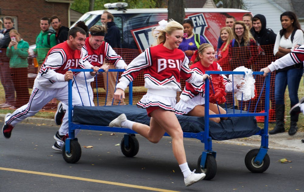 <p>One of the Homecoming activities this weekend is the annual Bed Races, which will be on Oct. 21&nbsp;at noon on Riverside Avenue. Teams of five will race 100 yards down the street on wheeled beds. <em>Samantha Brammer // DN&nbsp;</em><em>File&nbsp;</em></p>