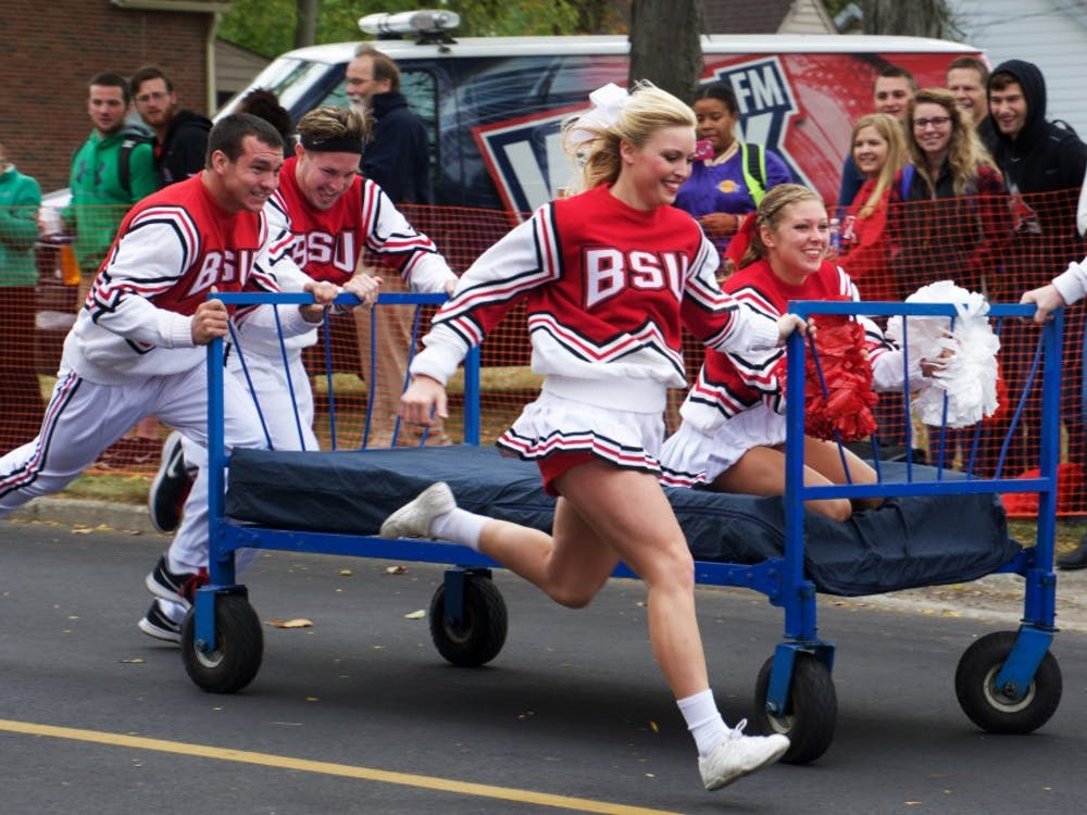 One of the Homecoming activities this weekend is the annual Bed Races, which will be on Oct. 21at noon on Riverside Avenue. Teams of five will race 100 yards down the street on wheeled beds. Samantha Brammer // DNFile