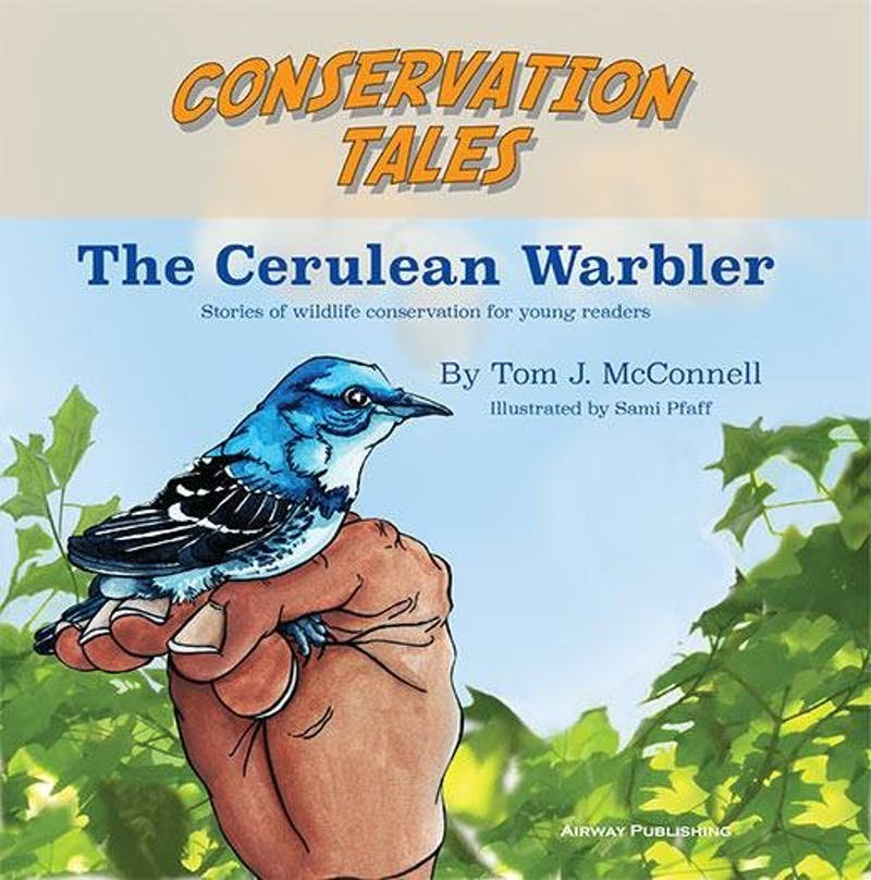 "Associate biology professor Tom McConnell and Ball State junior art major Sami Pfaff will host a meet and greet about their book ""Conservation Tales: The Cerulean Warbler"" tonight at the Twin Archer Brew Pub. The children's book is the first in a series about a vulnerable songbird. Conservation Tales Facebook // Photo Courtesy"