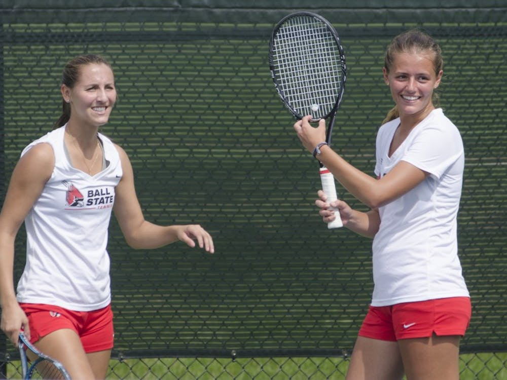 Ball State's women's tennis team faced Butler in the Fall Dual on Sept. 20 at Cardinal Creek Tennis Center.