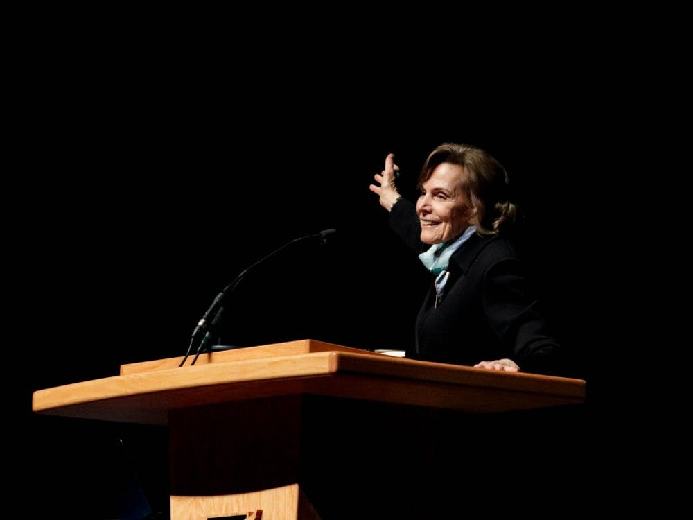 Oceanographer Dr. Sylvia Earle addresses environmental conservation and aquatic life at Emens Auditorium, March 27. Earle's efforts are in support of preserving the ocean's ecosystems for the planet and future generations. James Kohlmeyer, DN