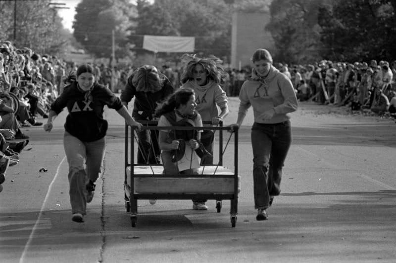 History of Ball State's Homecoming Bed Race
