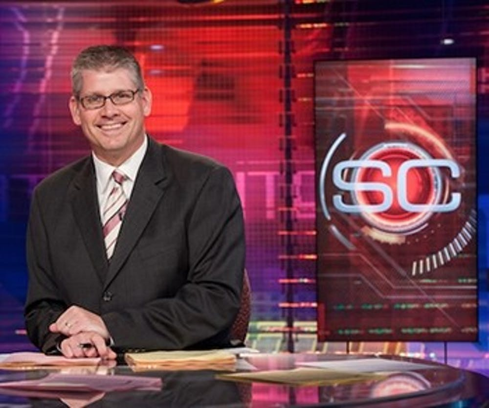 """<p>ESPN's John Anderson is set to give his lecture on """"SportsCenter Stories: Good stories, Great Writing and Do I Have to Wear Pants?"""" on March 23 in John R.&nbsp;Emens Auditorium. The original date for the David Letterman Distinguished Professional Lecture and Workshop Series speaker to visit Ball State was on Oct. 13, 2016, but he was forced to cancel """"due to an emergency.""""&nbsp;<em>Ball State University // Photo Courtesy</em></p>"""