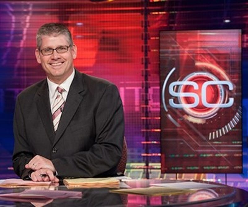 """ESPN's John Anderson is set to give his lecture on """"SportsCenter Stories: Good stories, Great Writing and Do I Have to Wear Pants?"""" on March 23 in John R.Emens Auditorium. The original date for the David Letterman Distinguished Professional Lecture and Workshop Series speaker to visit Ball State was on Oct. 13, 2016, but he was forced to cancel """"due to an emergency.""""Ball State University // Photo Courtesy"""