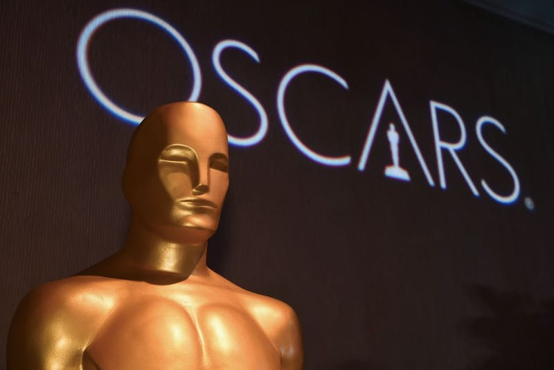 Oscar statue watches over the 91st Oscars Nominees Luncheon at the Beverly Hilton hotel Feb. 4, 2019, in Beverly Hills. Robin Beck, TNS Photo