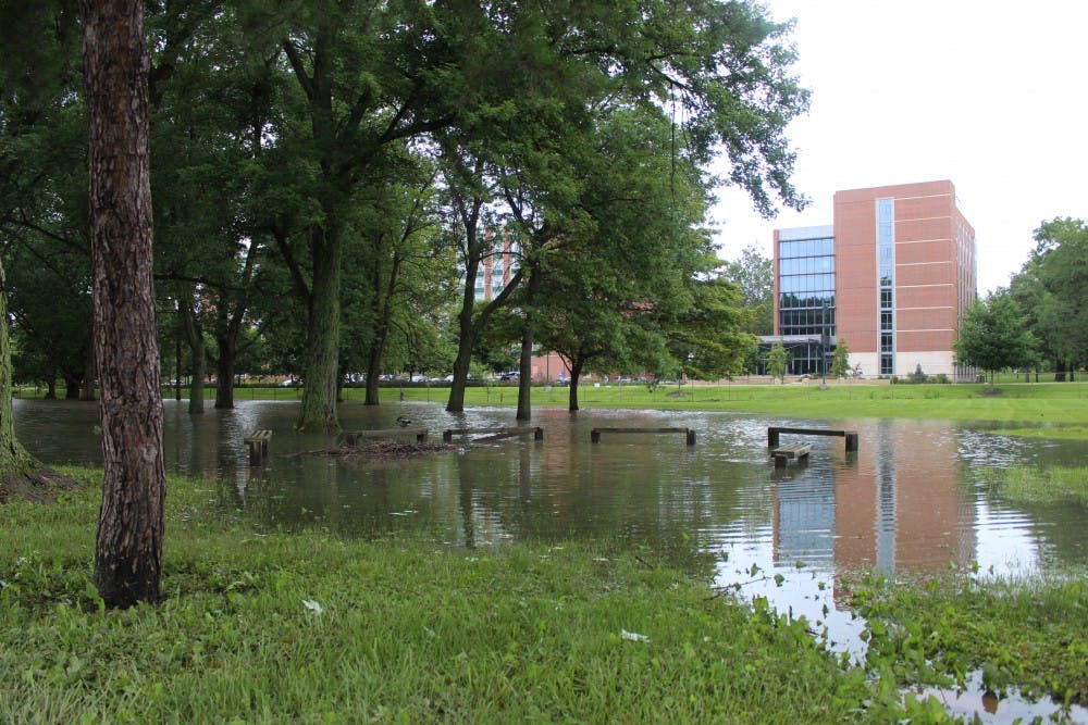 Storms on June 26 caused flooding in multiple areas around campus. DN PHOTO DANIEL BROUNT