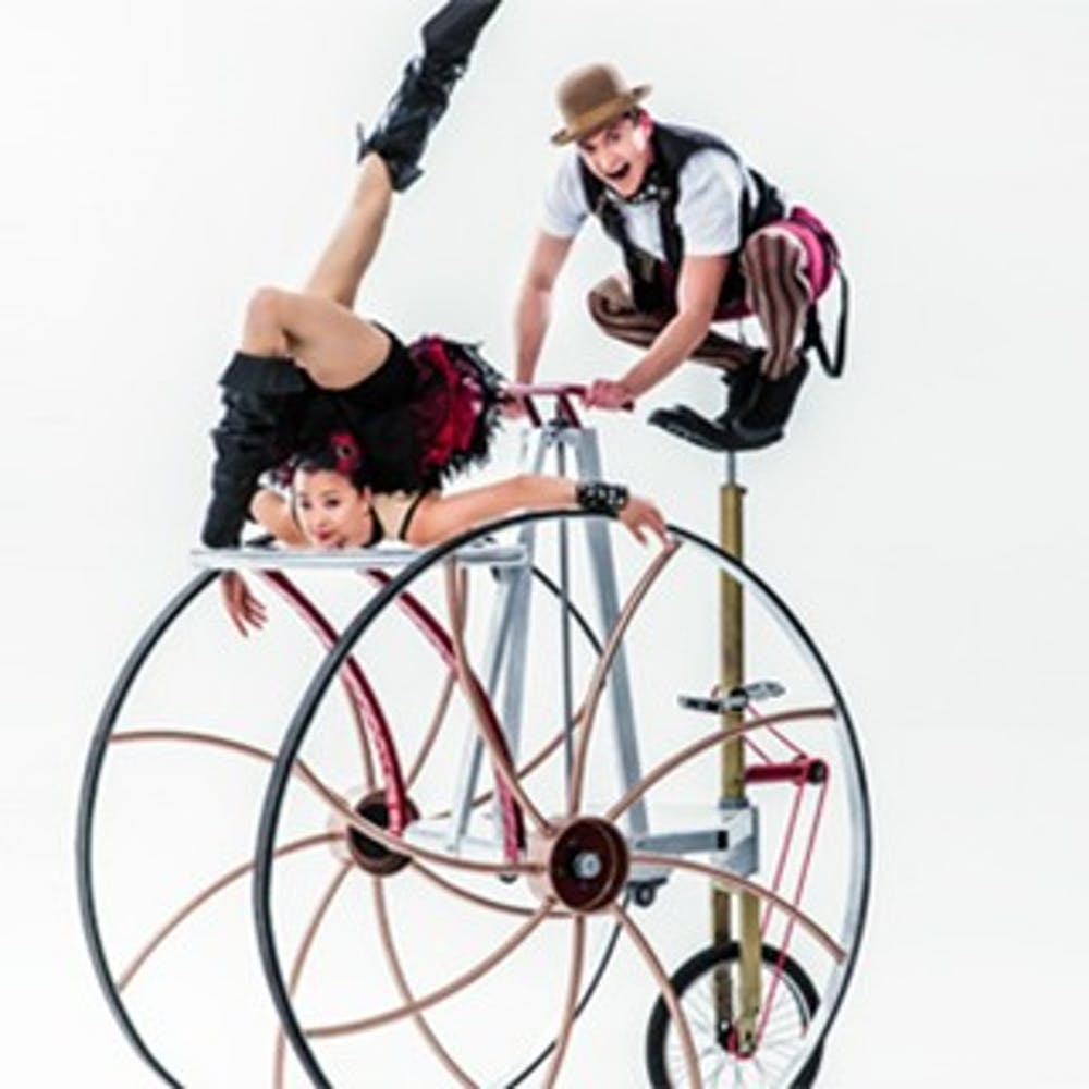 <p>Cirque Mechanics' new show Pedal Punk will be performed in&nbsp;John R. Emens Auditorium today at 7:30 p.m. The show blends&nbsp;mechanical equipment and traditional circus elements. <em>Ball State University // Photo Courtesy</em></p>