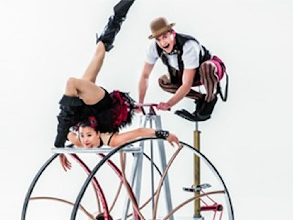 Cirque Mechanics' new show Pedal Punk will be performed inJohn R. Emens Auditorium today at 7:30 p.m. The show blendsmechanical equipment and traditional circus elements. Ball State University // Photo Courtesy