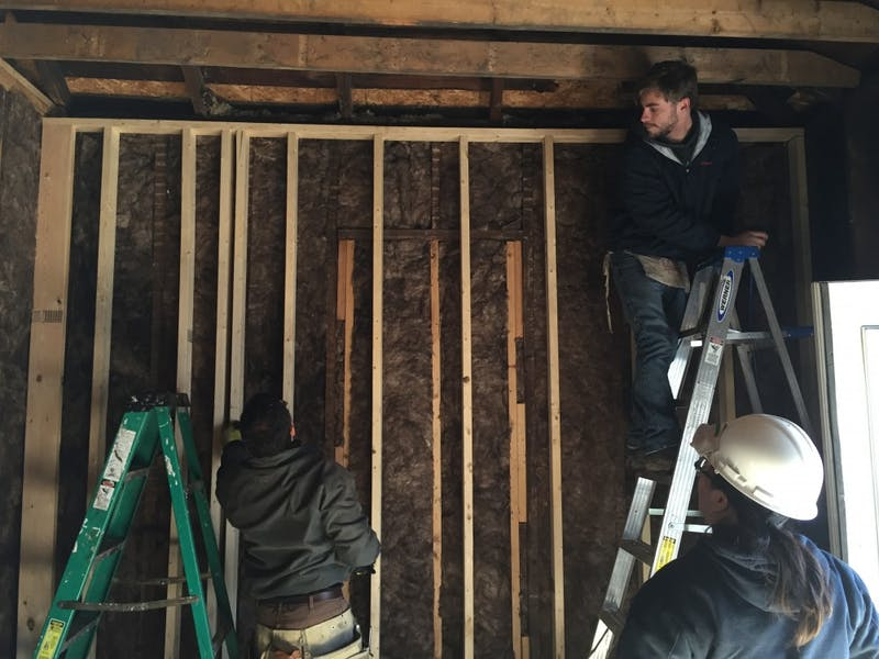 Architecture students reconstruct former meth house