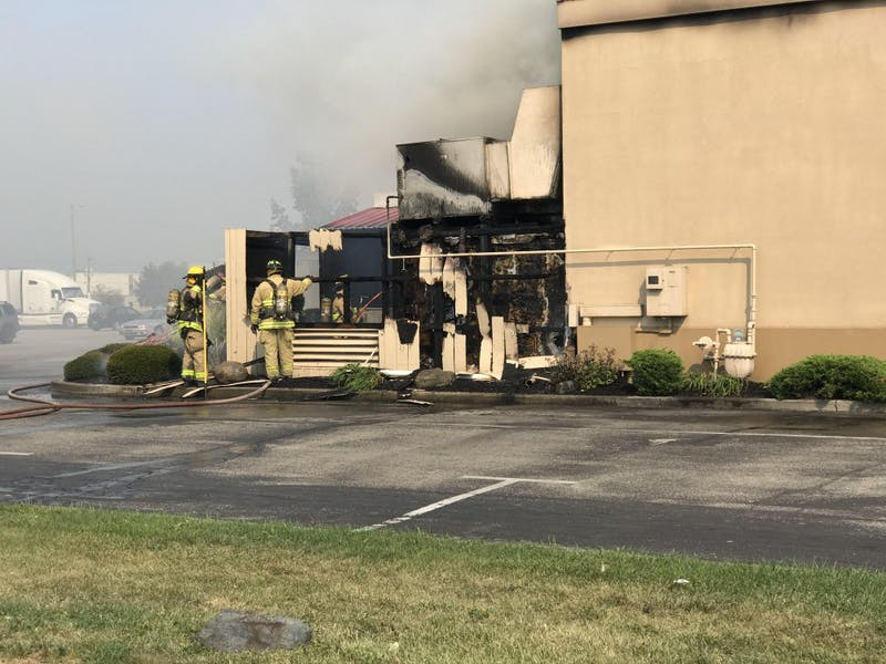 The Muncie Fire Department was dispatched to the Dairy Queen around 4 p.m. on Monday. No one was injured during the fire. Andrew Smith, DN photo