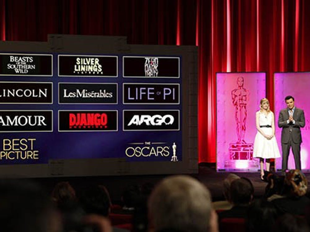 Emma Stone and Seth MacFarlane announce the Academy Award nominations Jan. 10 at the Academy of Motion Picture Arts and Sciences Samuel Goldwyn Theater in Beverly Hills. MCT PHOTO