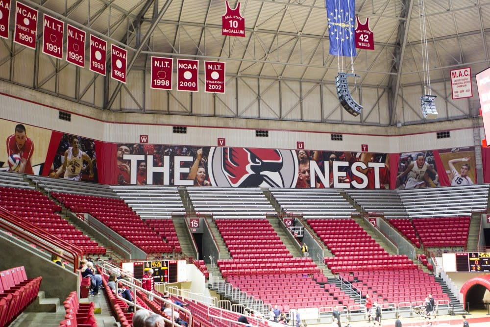 <p>Worthen Arena will celebrate its 25th anniversary Saturday. In its first year, Ball State hosted the NCAA Men's Volleyball National Championship. <em>Emma Rogers // DN&nbsp;</em></p>